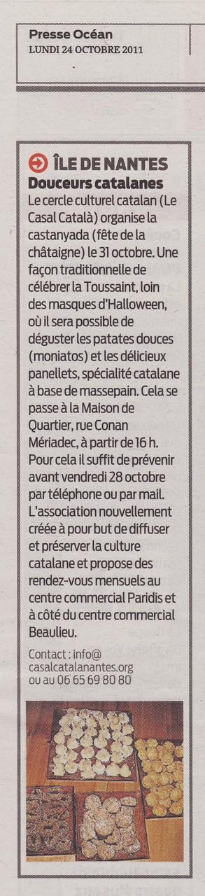 Presse Océan 24-10-2011