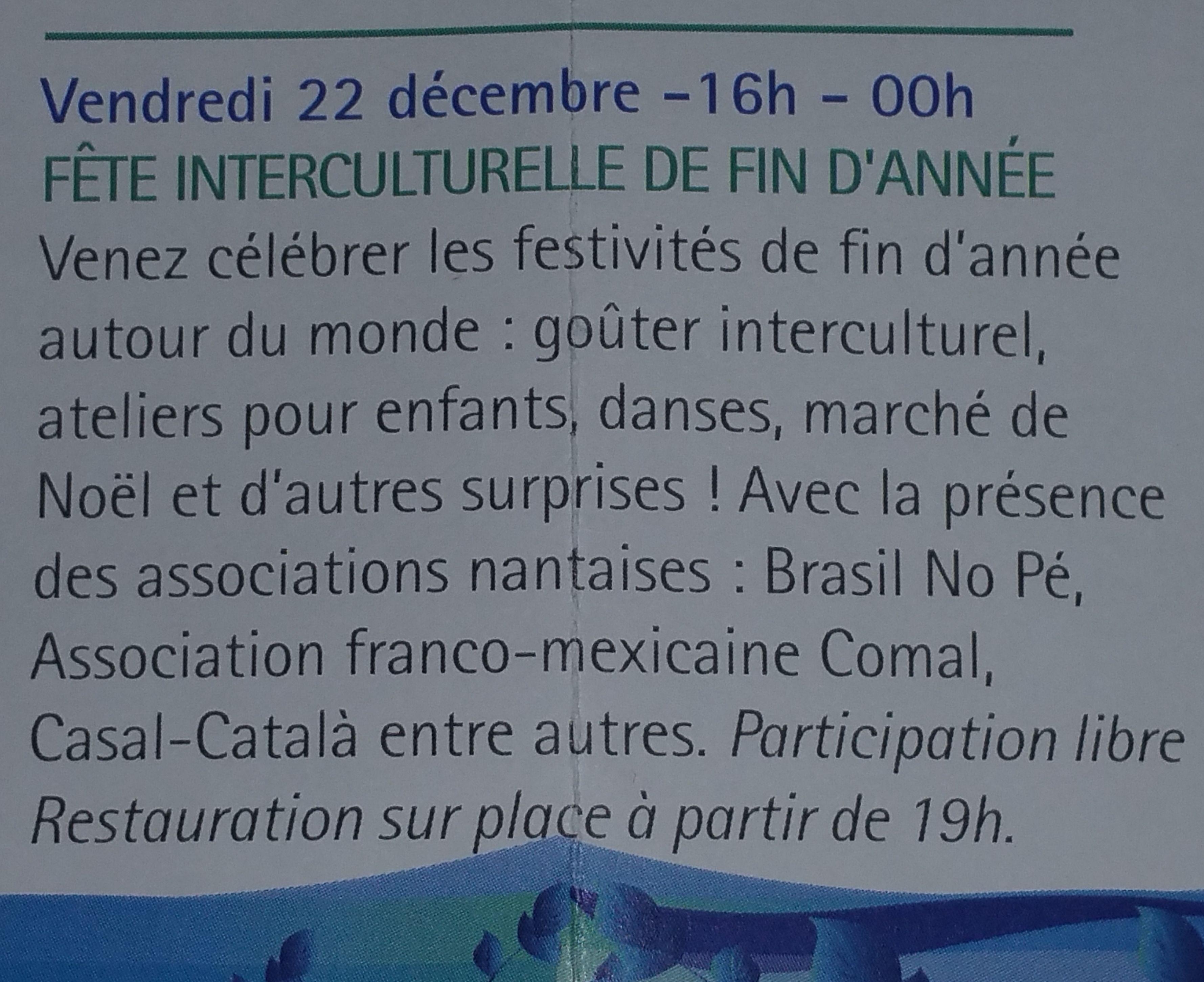 Nadal Intercultural | Noël Interculturel - 2017